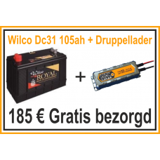 Wilco dc31 105ah + Acculader HF 4.5ah
